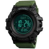 Mens Outdoor Sports Army Watches Pedometer Calories Digital Watch Altimeter Barometer Compass Thermometer Weather Men Watch (Army Green)