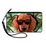Buckle-Down womens Buckle-down Zip Dachshund Dog Small Wallet, Multicolor, 6.5 x 3.5 US