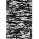 """Loloi Rugs Juneau Collection Area Rug, 1'-6"""" x 1'-6"""", Ivory/Black"""