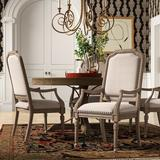 Hooker Furniture Corsica Arm Chair Wood/Upholstered/Fabric in Brown, Size 42.0 H x 23.75 W x 23.75 D in | Wayfair 5180-75401