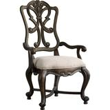 Hooker Furniture Rhapsody Solid Wood Dining Chair Wood/Upholstered/Fabric in Brown, Size 46.0 H x 26.5 W x 28.0 D in | Wayfair 5070-75401