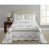 August Grove® Holsey Heather Bedspread Single Coverlet in White, Size Full/Double | Wayfair 294E6C25A1A04E7084DCA478FC851845