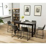 Roundhill Furniture Lotusville Counter Height Dining Set, Vintage Gray