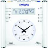 Sangean RCR-3 AM/FM Atomic Digital/Analog Clock Radio (White), One Size