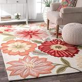 """nuLOOM Springs Hand Tufted Area Rug, 3' 6"""" x 5' 6"""", Pink"""