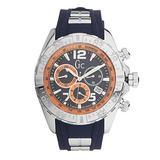 Guess Y02010G7 Men's Sport Racer Blue & Orange Dial Chrono Watch