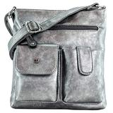 Purse King Colt Gunmetal Silver Concealed Carry Handbag