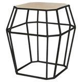 ellahome Paris Frame End Table in Black/Brown, Size 26.0 H x 24.0 W x 24.0 D in | Wayfair IT38_LT_AB