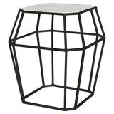 ellahome Paris Frame End Table in Gray/Black, Size 26.0 H x 24.0 W x 24.0 D in | Wayfair IT38_CC_AB