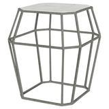 ellahome Paris Frame End Table in Gray/Black, Size 26.0 H x 24.0 W x 24.0 D in | Wayfair IT38_CC_DG