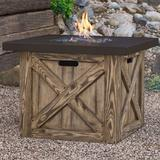 "Real Flame Farmhouse Concrete Propane Fire Pit Table, Concrete in Brown, Size 23""H X 31""W X 31""D | Wayfair C1725LP-RP"