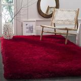 Mercer41 Shortt Handmade Tufted Red Area Rug Polyester in Brown/Red, Size 48.0 W x 3.15 D in   Wayfair F49FA29E0BBC4396A3826D73634667E7