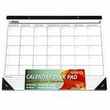 Rebrilliant Ecker Undated Calendar Desk Pad in Black/White, Size 17.0 H x 22.0 W x 0.15 D in | Wayfair 96561C3DD226454AB5171423ACD77828