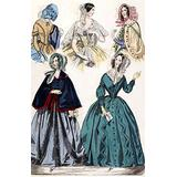WomenS Fashion 1842 Namerican Fashion Print From GodeyS LadyS Book Of The Latest Styles From Paris March 1842 Poster Print by (24 x 36)