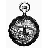 Pocket Watch 19Th Century Ndesign For A Gold Watch Back 19Th Century Poster Print by (18 x 24)