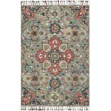 """Loloi Rugs, Zharah Collection - Light Blue / Multi Area Rug, 1'6"""" x 1'6"""""""