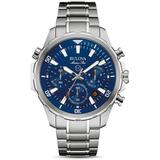 Marine Star Blue Dial Stainless Steel Chronograph Diving Bracelet Watch - Blue - Bulova Watches