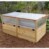 Outdoor Living Today 6 ft x 3 ft Cold-Frame Greenhouse Polycarbonate Panels, Size 33.5 H x 72.0 W in | Wayfair RB63MGH