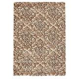 """Carpet Art Deco Brentwood Collection Accent Rug, 3'3""""x4'11"""", Beige"""