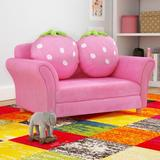 Zoomie Kids Kennon Kids ClubMicrofiber/Upholstered in Pink, Size 19.0 H x 35.4 W x 20.8 D in | Wayfair 7BECDA62773E40FF87C0F559C114BB13
