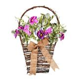 """Vickerman 521083 - 20"""" Mixed Purple Flower Basket (FG180101) Home Office Flowers in Pots Vases and Bowls"""