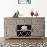 Gracie Oaks Ballsallagh Wooden Buffet Table Wood in Brown/Gray, Size 36.0 H x 66.0 W x 18.0 D in   Wayfair 3CF0D1AB11274543A571AC021795CBD3