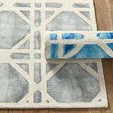 Mayla Dip Dyed Tufted Rug Blue 8' x 10' - Ballard Designs