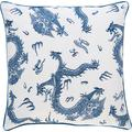 BARBARA Home Collection Kissenhülle KI-H Dragon blau Kissenbezüge gemustert Kissen