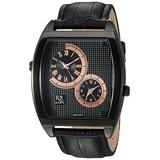 ROBERTO BIANCI WATCHES Men's Benzo Stainless Steel Quartz Watch with Leather Strap, Black, 23 (Model: RB0742)