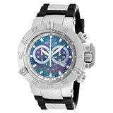 Invicta Men's Subaqua Stainless Steel Swiss-Quartz Watch with Silicone Strap, Black, 29 (Model: 90127)