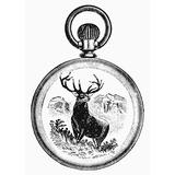 Pocket Watch 19Th Century Ndesign For A Gold Watch Back 19Th Century Poster Print by (24 x 36)
