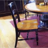 Bay Isle Home™ Spindler Square Solid Wood Dining Chair Wood in Black/Brown, Size 39.0 H x 20.0 W x 20.0 D in   Wayfair