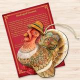 The Holiday Aisle® Thanksgiving Tom the Turkey Hanging Wood in Brown/Red, Size 5.0 H x 5.0 W x 1.0 D in | Wayfair E49F5B0F39D3455BAA44002553475F05