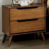 Wade Logan® Kawakami 2 - Drawer Nightstand Wood in Brown, Size 24.0 H x 23.63 W x 17.0 D in   Wayfair 20538ABDB0FA469BA9C2BC607B8E6965