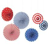 Amscan Patriotic American Summer Paper Centerpieces & Hanging Decor Paper in Red | Wayfair 290506