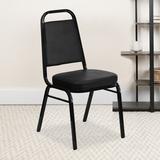 Flash Furniture Hercules Series Banquet Chair Vinyl/Metal in Black, Size 36.0 H x 17.5 W x 17.5 D in | Wayfair 4-FD-BHF-1-GG