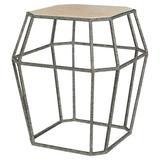 ellahome Paris Frame End Table in Blue/Brown, Size 26.0 H x 24.0 W x 24.0 D in | Wayfair IT38_LT_DO