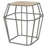 ellahome Paris Frame End Table in Gray/Brown, Size 26.0 H x 24.0 W x 24.0 D in | Wayfair IT38_LT_DG