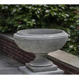 Campania International Jensen Cast Stone Urn Planter Concrete in Gray, Size 16.0 H x 23.0 W x 23.0 D in | Wayfair P-703-GS