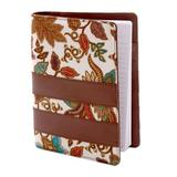 Faux leather notebook, 'Noteworthy'