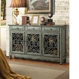 Fleur De Lis Living Rogalski Traditional Sideboard Wood in Brown/Green, Size 36.0 H x 60.0 W x 13.0 D in | Wayfair A59BFDED224E4ED68D55914F1A02E8A8