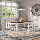 August Grove® Larchwood 7 Piece Dining Set Wood in White, Size 30.5 H in   Wayfair LFMF1710 40807554