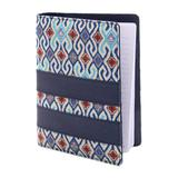 Faux leather notebook, 'Jakarta Peacock'
