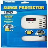 Prime Wire and Cable PB 002130 8-Outlet 1150-Joule Surge Protector with Alarm and 6-Foot Cord