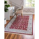 Unique Loom Narenj Collection Classic Traditional Repeating Pattern Burgundy Area Rug (3' 0 x 5' 0)