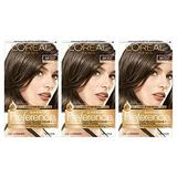 L'Oreal Paris Superior Preference Fade-Defying + Shine Permanent Hair Color, 6A Light Ash Brown, Pack of 3, Hair Dye