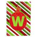 Caroline's Treasures CJ1039-W-CHF Christmas Ornament Holiday Letter W Monogram Initial Flag, Large, Multicolor