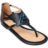 Women's Cuce Black Carolina Panthers Gladiator Sandals