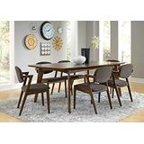 Coaster Home Furnishings Malone 5-Piece Dining Set with Open Back Side Chairs Dark Walnut and Grey