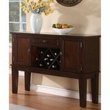 "Alcott Hill® Lahey 52"" Wide 1 Drawer Buffet Table Wood in Brown/Red, Size 36.0 H x 52.0 W x 18.0 D in   Wayfair F5DE2CFC5C4F49FD873EC06051B1EC89"